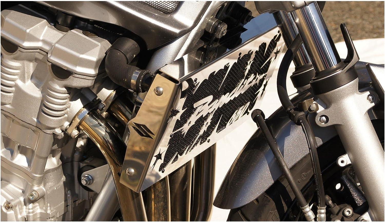black protective mesh Radiator cover//radiator guard GSF 650 Bandit 200715 design /«/Hold up//»