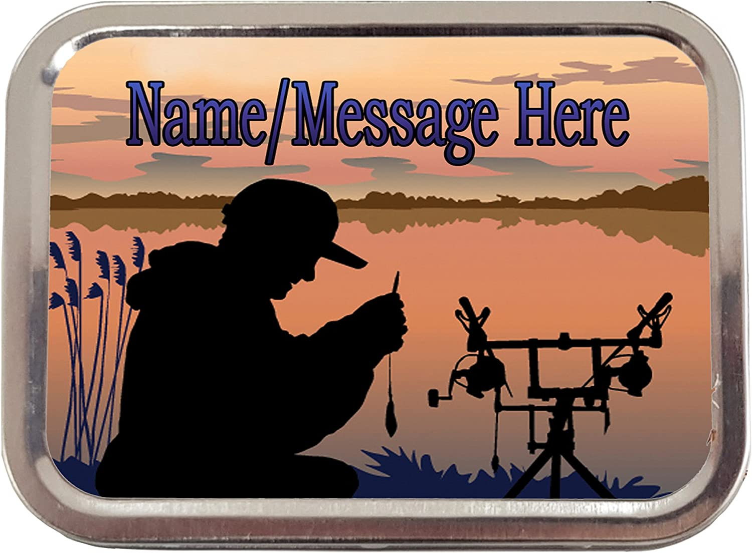 FISHERMAN EMBROIDERED PERSONALISED FISHING TOWEL CHRISTMAS GIFT STOCKING FILLER