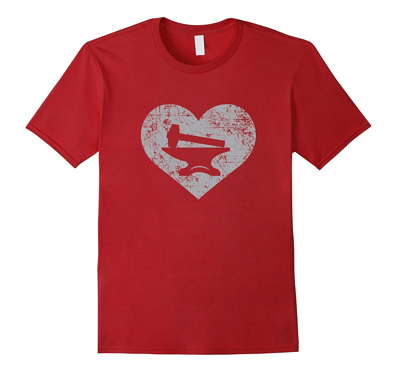 I Love Blacksmithing Shirt Blacksmith Heart Gift-TJ