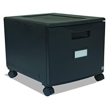 Charming Storex Single Drawer Mini File Cabinet With Lock And Casters, Legal/Letter  Size 18.25