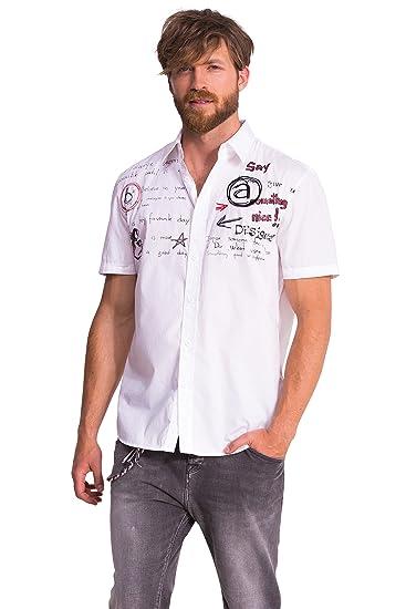 Desigual CAM_JULIO - Camisa casual de manga corta para hombre ...