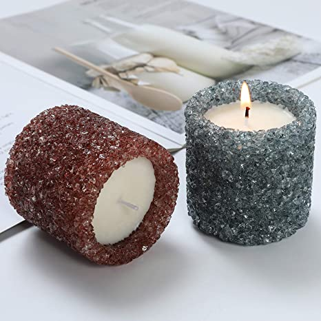 100 Hour Burn Time Self-trimming Wick SoyParaffin Blend Large Birthday Cake Vase Candle Jar Paper Core Color Free Poured to Order