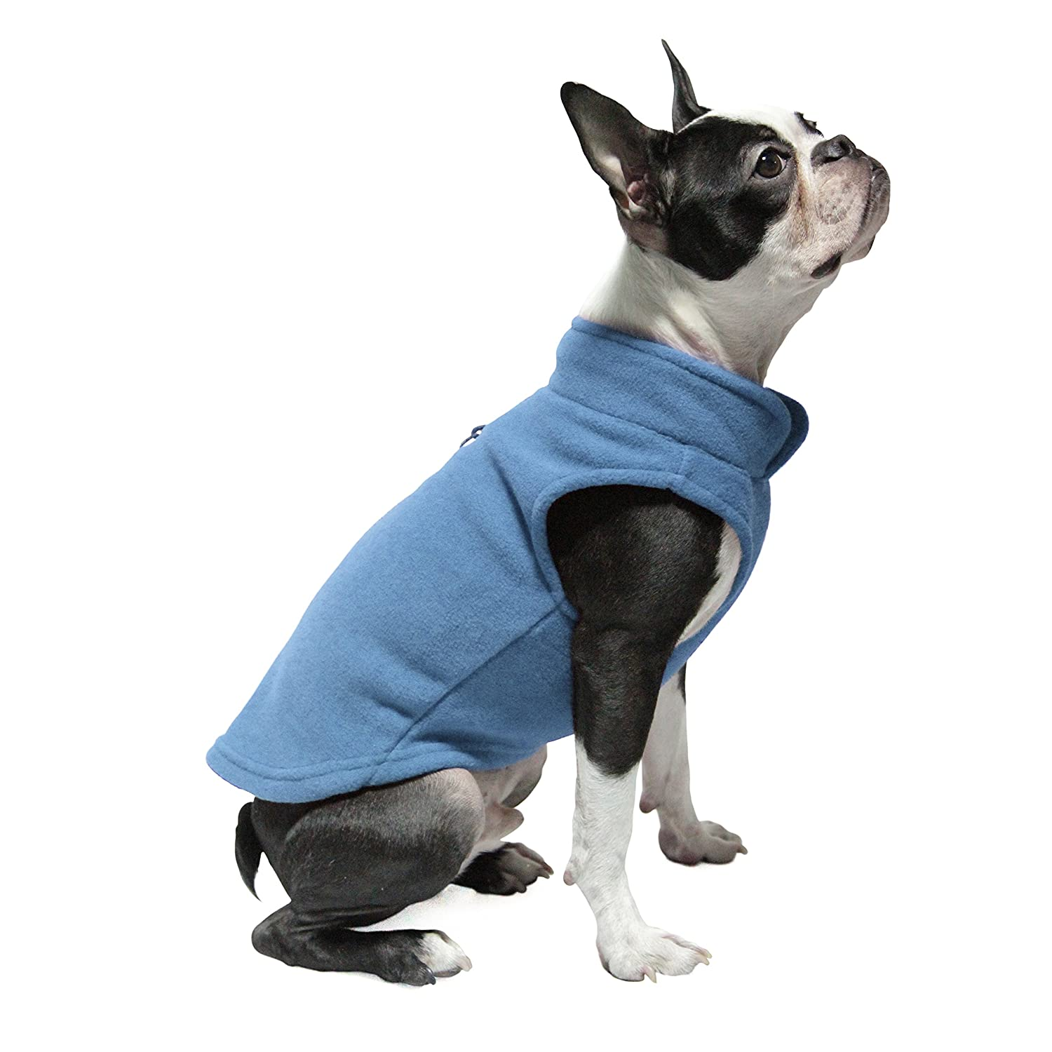 Gooby 72106-BLU-XL Every Day Fleece Cold Weather Dog Vest for Small Dogs, X-Large Chest (18.5), BLUE X-Large Chest (18.5) Gooby Pet