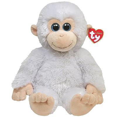 Ty Classic Plush Ivory - White Monkey: Toys & Games
