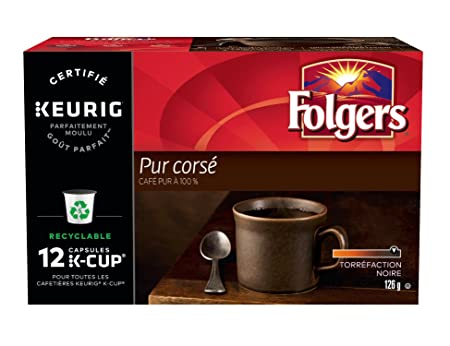 Folgers Espresso Roast Coffee K-Cups, 12 Count: Amazon.com: Grocery & Gourmet Food