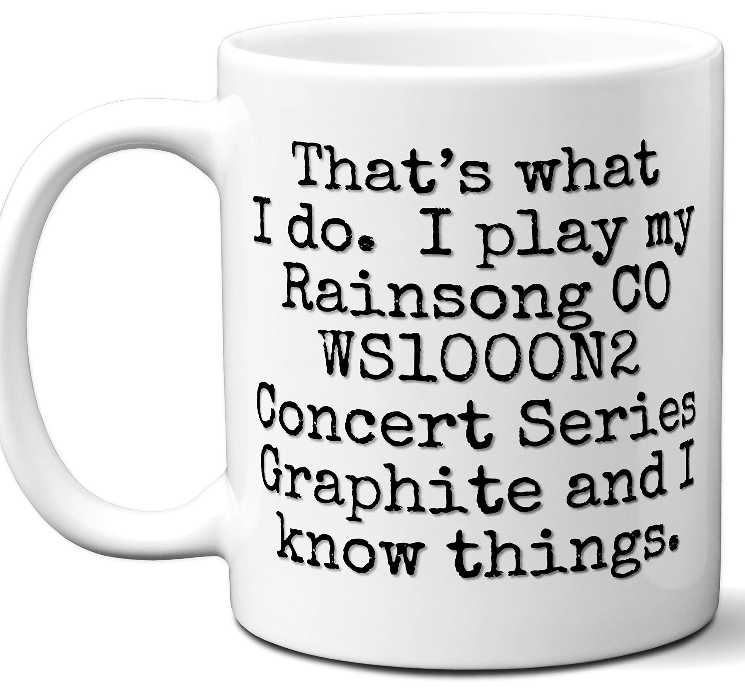 Guitar Gifts Mug. Rainsong CO WS1000N2 Concert Series Graphite Guitar Players Lover Accessories Music Teacher Lover Him Her Funny Dad Men Women Card Pick Musician Acoustic Unique by Ombura
