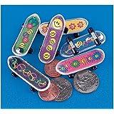 "Fun Express - MINI SKATEBOARDS - Plastic, 2"" (1-Pack of 36)"
