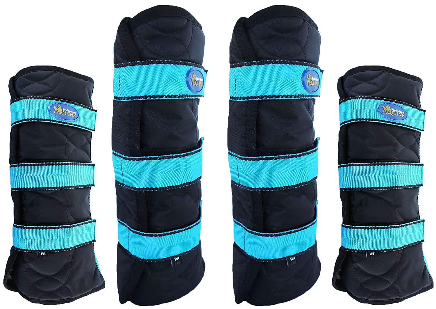 Large Front  13\ Professional Equine 600D 4-Pack Large Horse Travel Predection Boots 4107TR