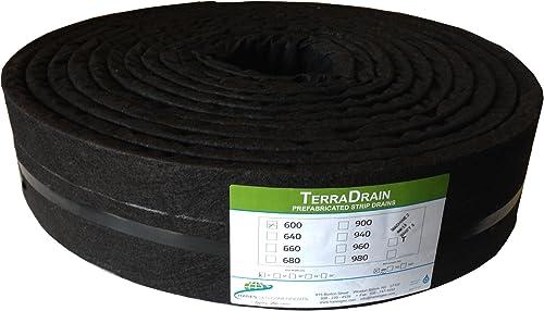 Hanes Geo Components 32432 TerraDrain Strip Drain, 6-Inch x 150-Feet