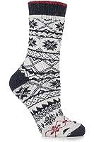 Urban Knit Ladies 1 Pair Fair Isle Wool Blend Boot Socks