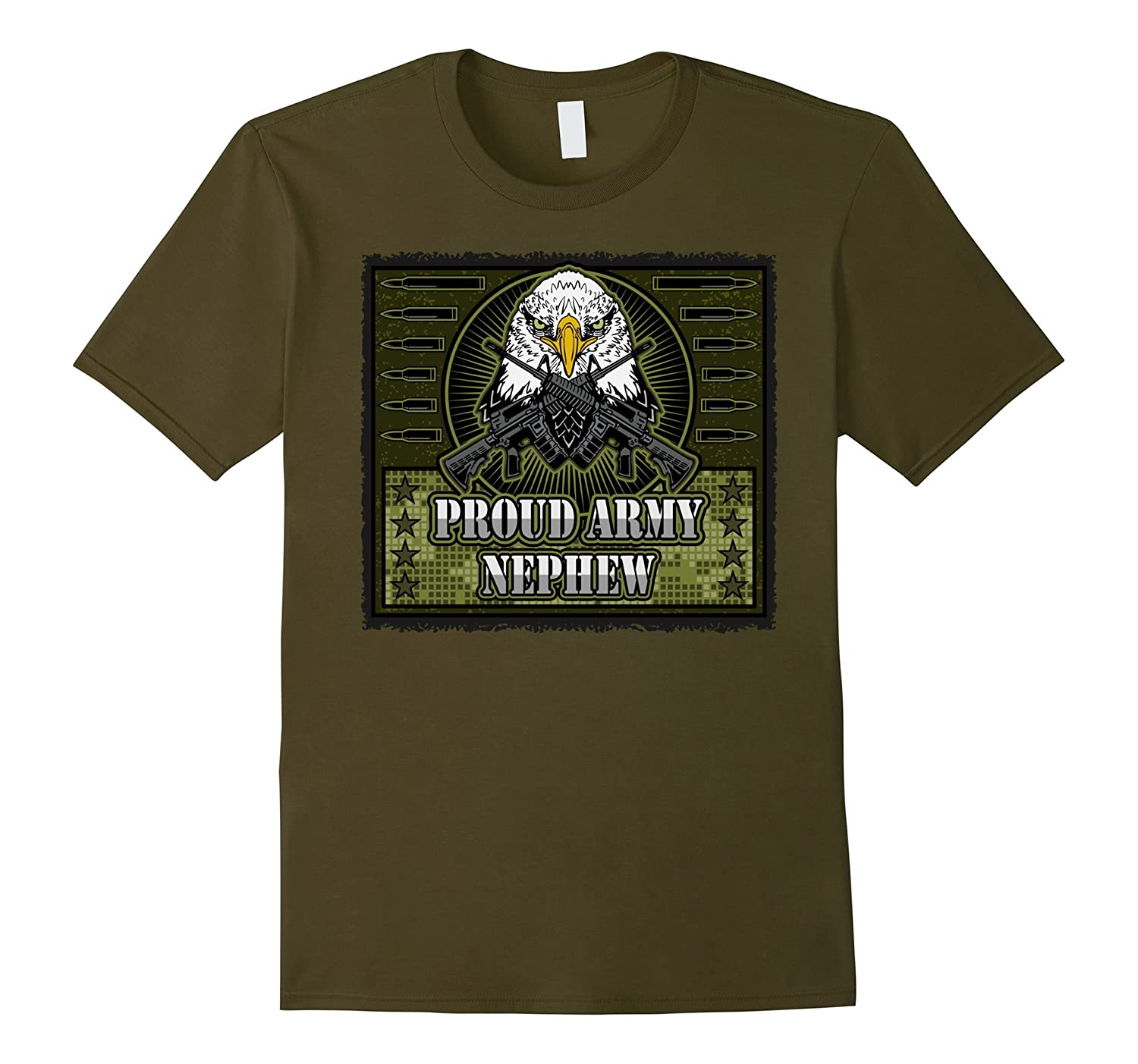 Proud Army Nephew Bald Eagle Military T-shirt