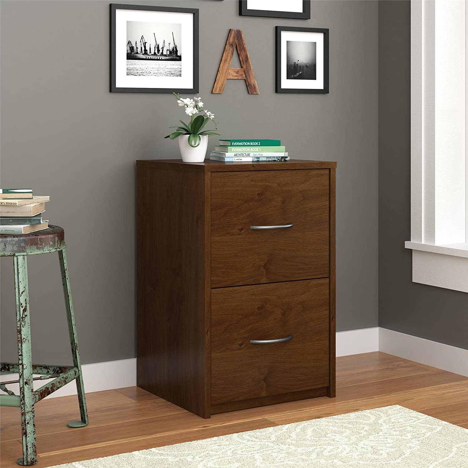 Amazon.com: Altra Furniture Core 2 Drawer File Cabinet, Northfield Alder:  Kitchen U0026 Dining