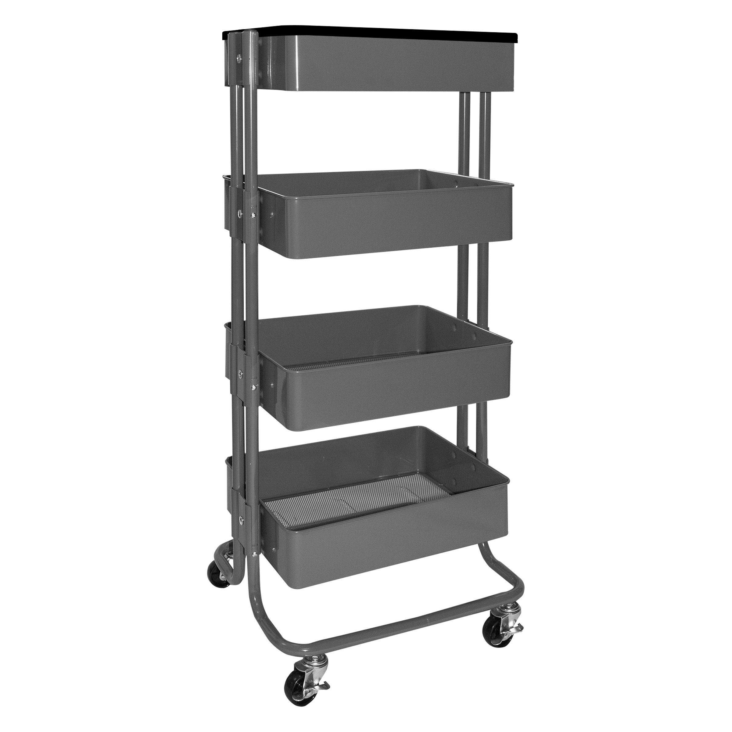 Vertiflex Stand-Up 4-Tier Workstation, 39'' Tall, Gray (VF51025)