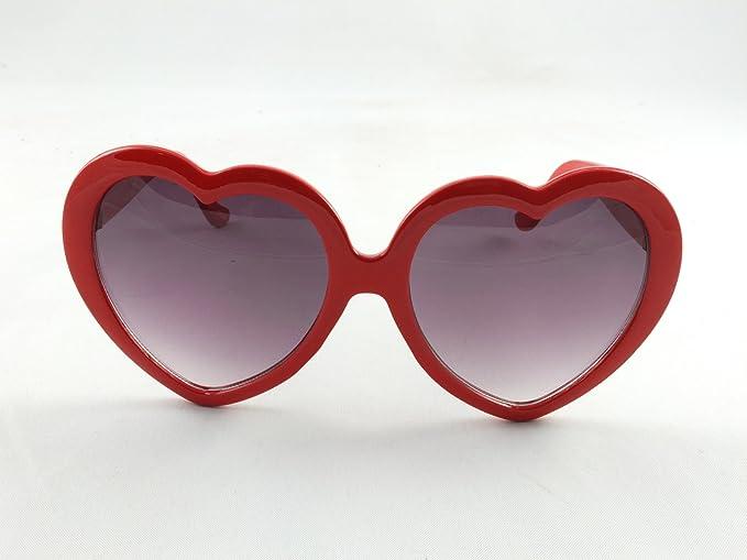 HuaYang 2013 très demandé en forme de cœur l'amour rétro lunettes de soleil(Bleu ciel) 9JsUQ