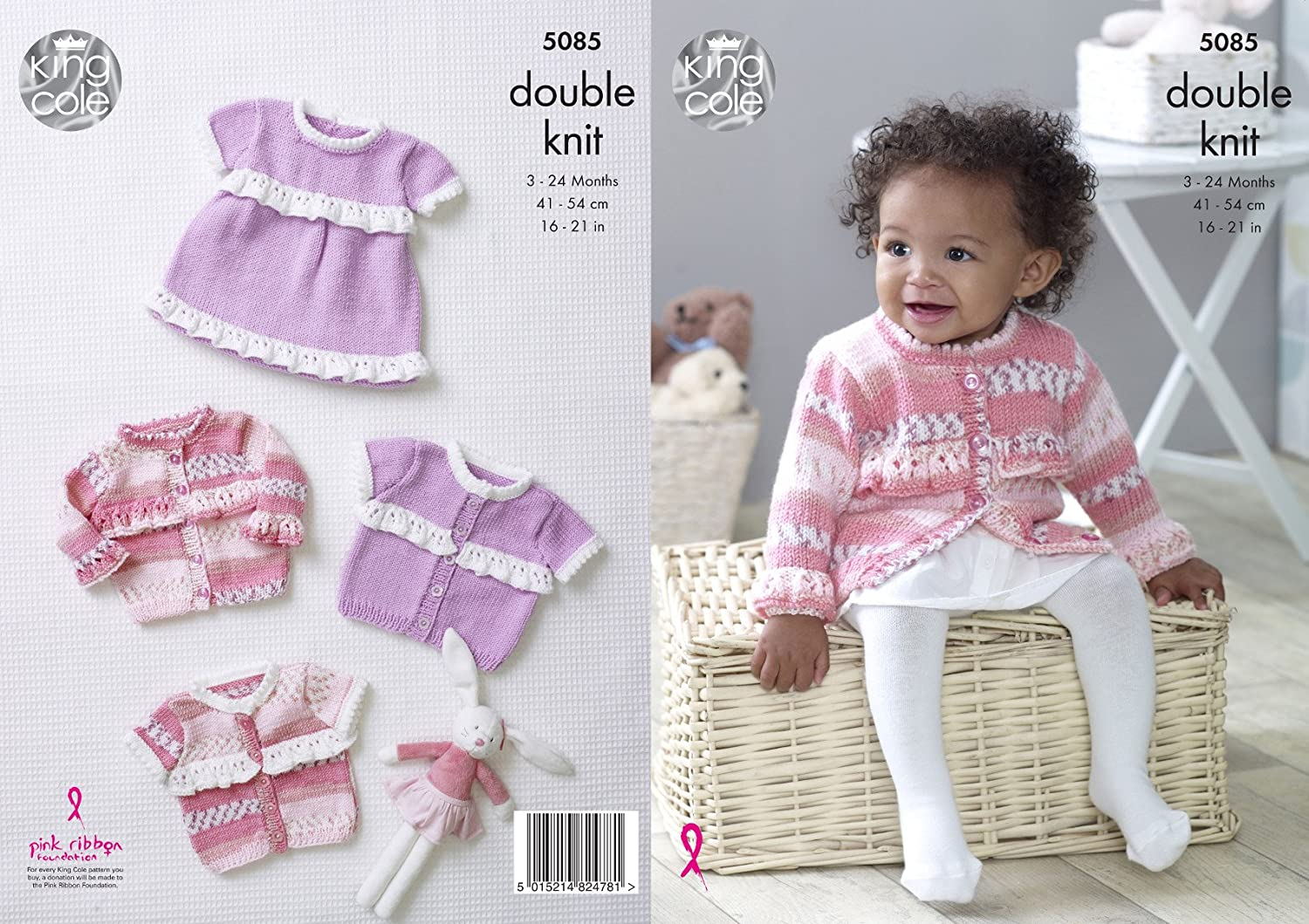 "Top /& Bootees DK Knitting Pattern Size 16-21/"" King Cole 5084 Baby Capes"