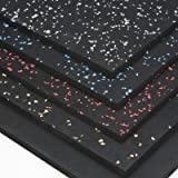IncStores Premium 3/8in x 4ft x 6ft Rubber Gym Flooring Mats - Vulcanized High Quality Rubber Flooring Equipment Mats