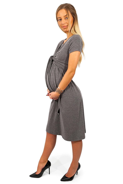 sofsy Robe ou Haut de Maternité Robe ou Haut Allaitement Ouverture Frontale Mélange Viscose Douce Mode (Robe et Haut Vendu Séparément)