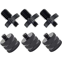 """Premium Mic Thread Screw Adapter 1/4"""" Male to 3/8"""" Male and 1/4"""" Male to 3/8"""" Female Microphone to Tripod Adapter…"""