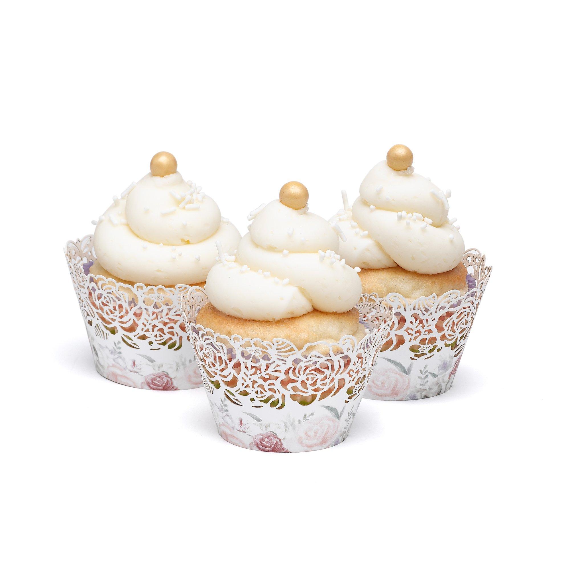 Hortense B. Hewitt 55542 Cupcake Wraps, Ethereal Floral