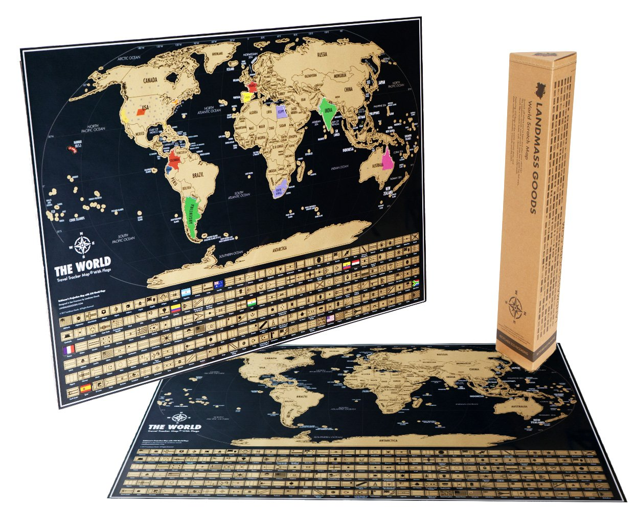 Vintage scratch off world map black and gold world travel tracker colorblack and gold landmasss world travel tracker map gumiabroncs Images