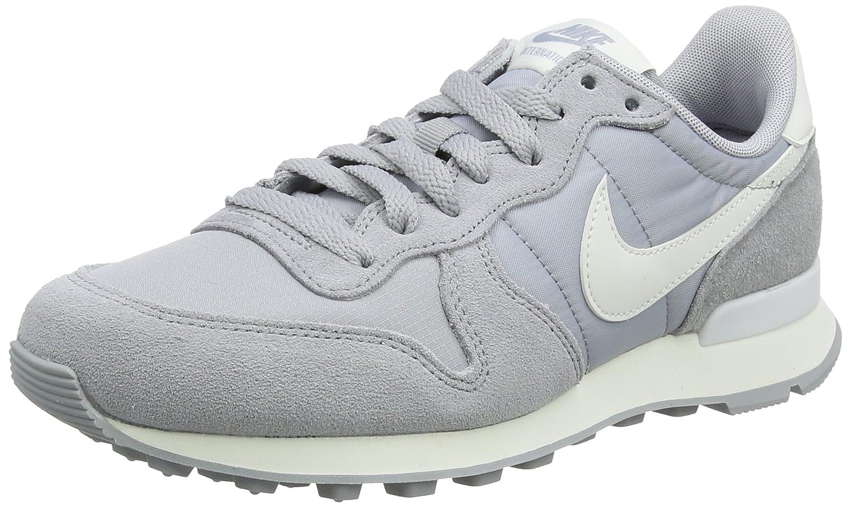 Nike Damen Wmns Internationalist Laufschuhe, Schwarz Mehrfarbig (Wolf Grey / Summit White 023)