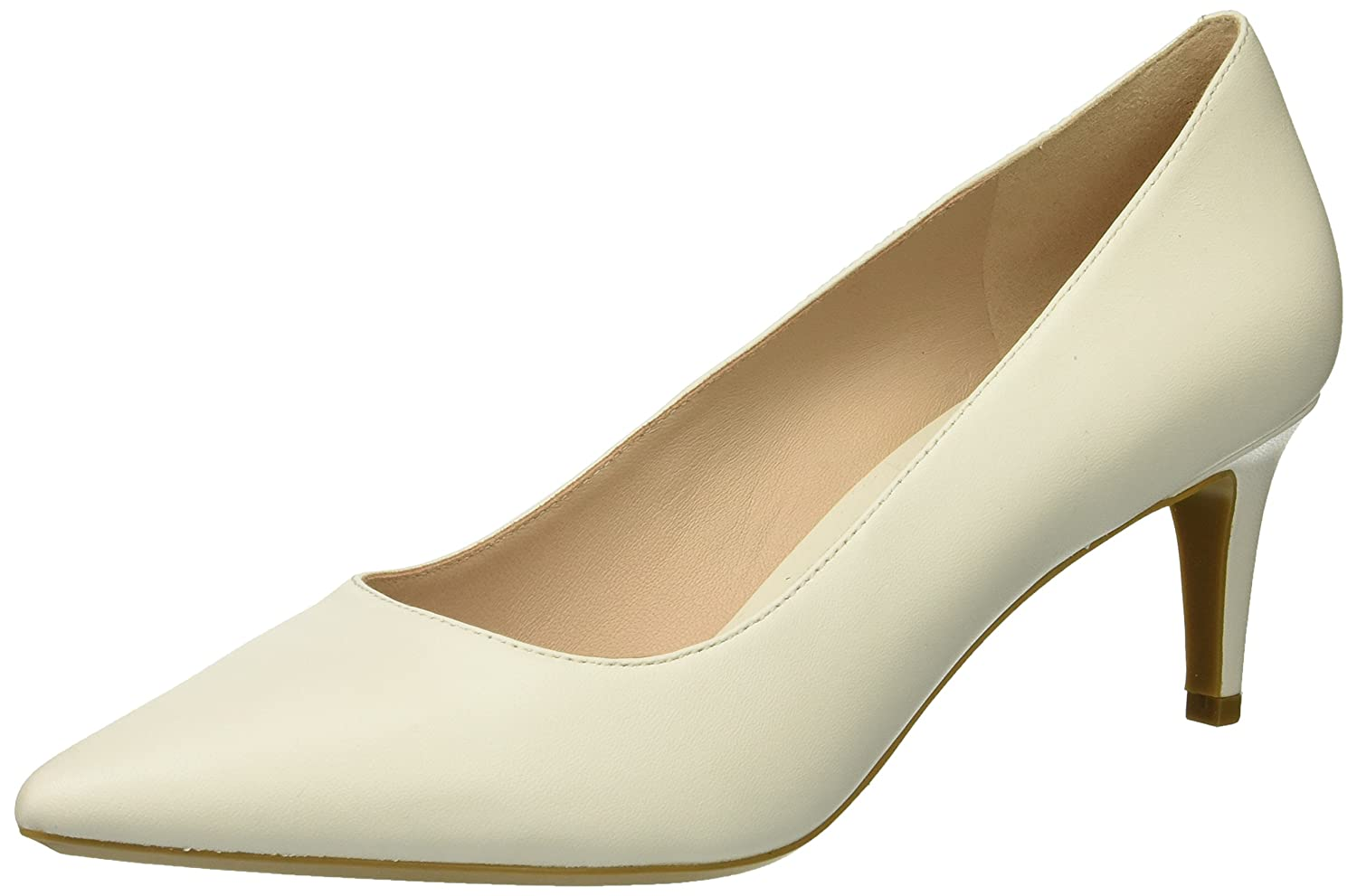 Nine West Women's SOHO9X9 Leather Pump B076HRR9KK 12 B(M) US|White