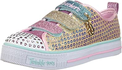 Skechers Unisex-Child Twinkle Lite-Mermaid Magic Sneaker