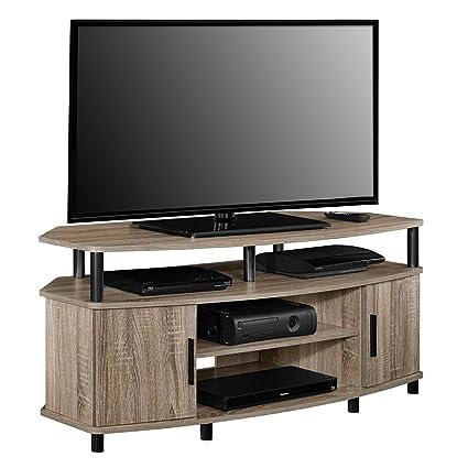 carson 50 inch sonoma oak corner tv stand stand corner tv oak wood mission entertainment - Corner Tv Stands For 50 Inch Tv