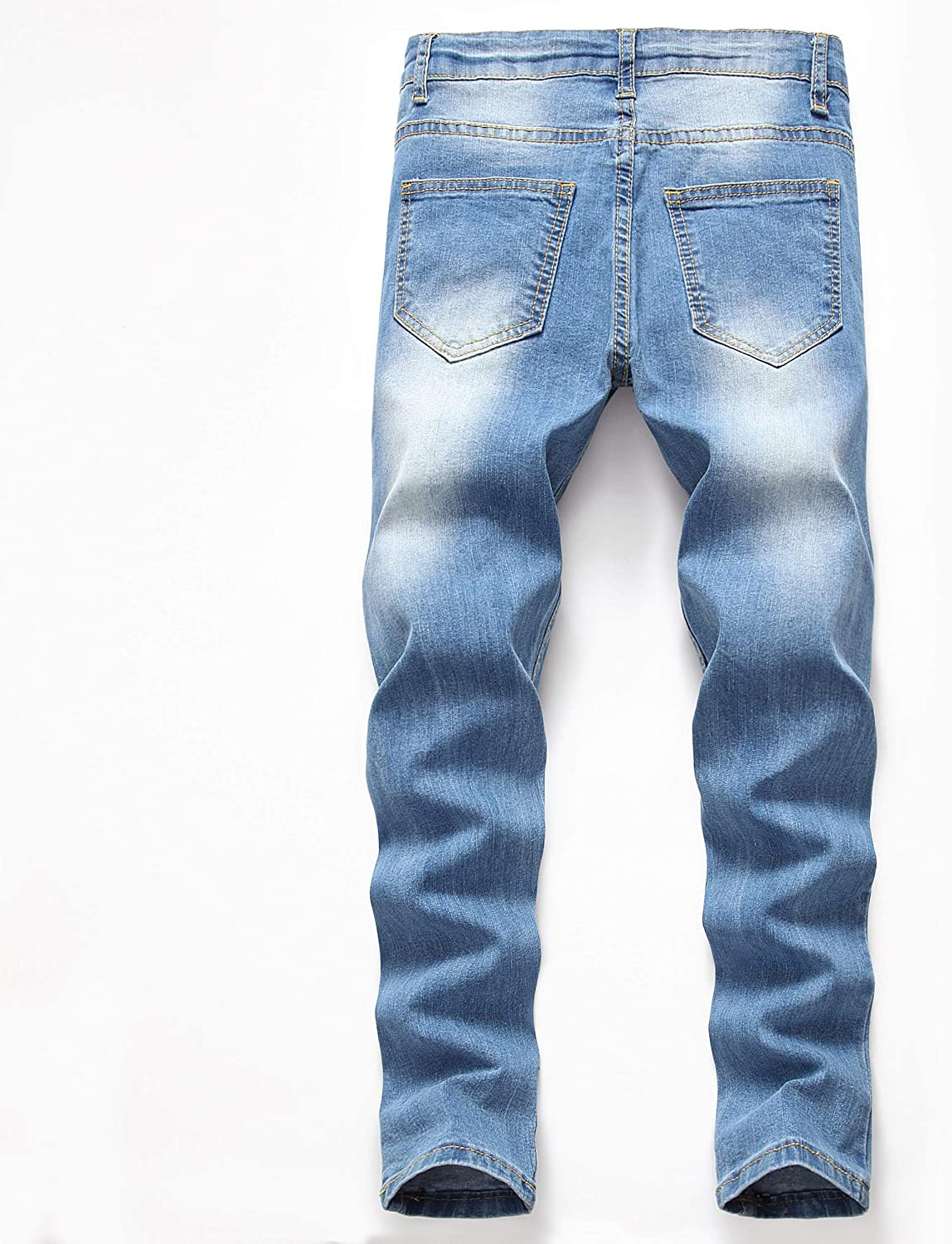 Lanscadran Boy's Skinny Fit Ripped Distressed Stretch Fashion Denim Jeans Pants: Clothing