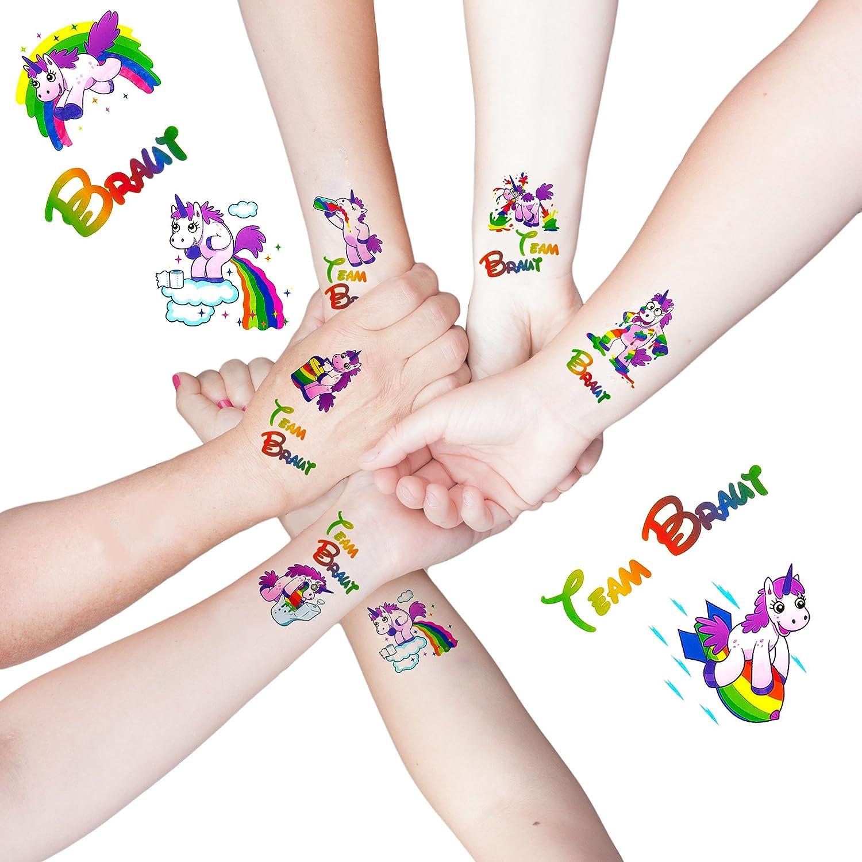 Oblique Unique - Adhesivo para Tatuajes de Novia con Unicornio y ...