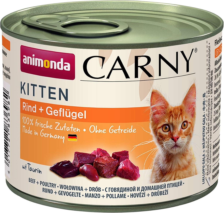 animonda gato Forro CARNY Kitten Aves de cóctel, 6unidades (6x 200g)