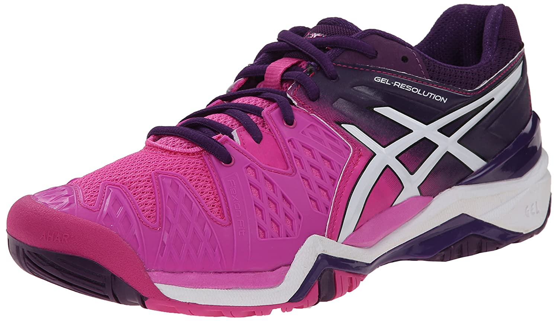 ASICS Gel Resolution 6 WIDE Women's Tennis Shoe White/Silver - WIDE version B00Q2JTXTC 11 B(M) US|Hot Pink/White/Purple