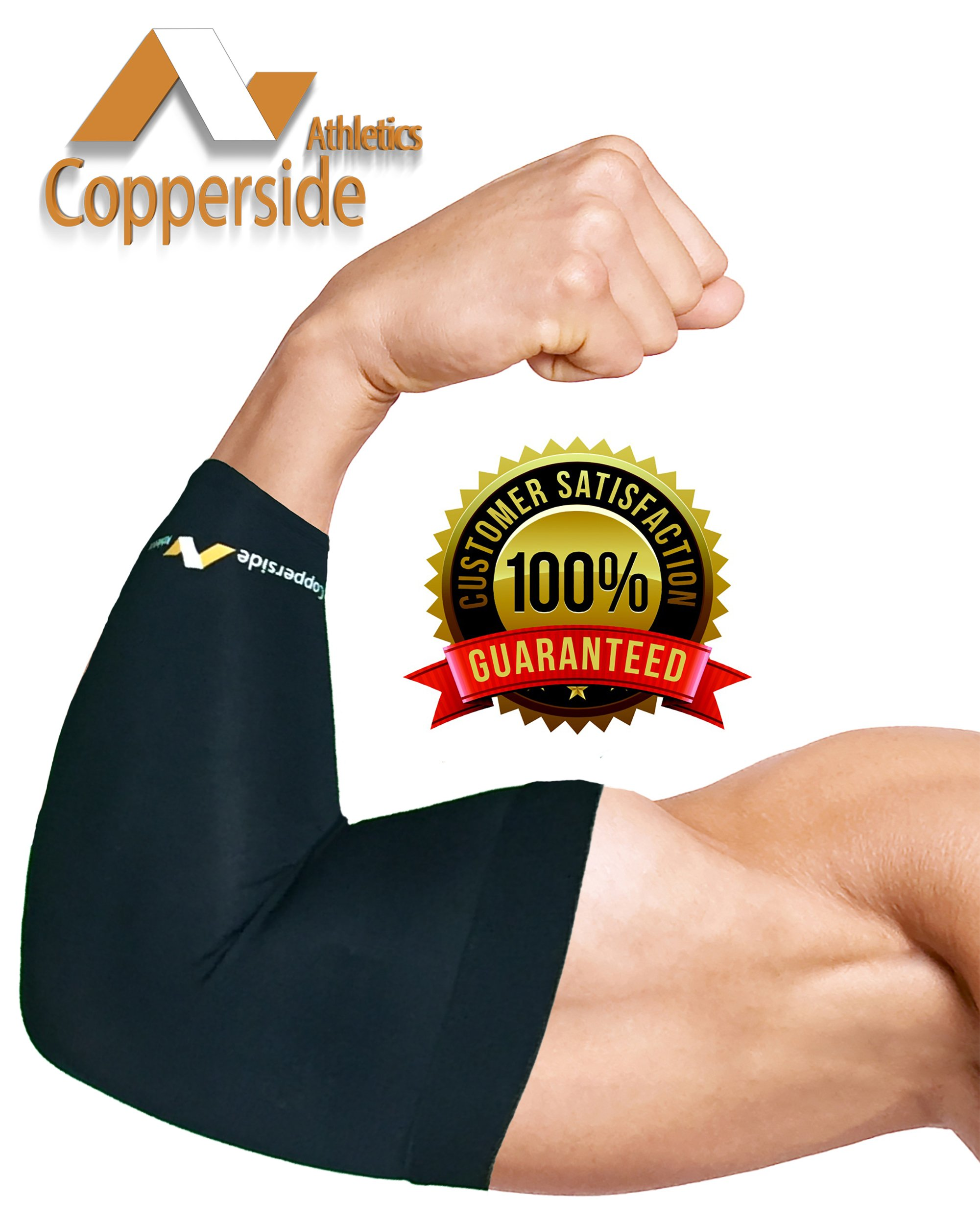 20 Pack Copper Elbow Compression Sleeve*Make Money Now!*(Copperside)Retail Bulk Wholesale for Kinesio, Physio Therapy, Chiropractors, Gyms, Free Display Case with Some Purchases. Full Support Provided by Copperside Athletics (Image #3)