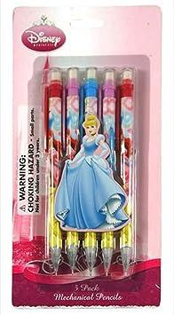 5 Pack Disney Princes portaminas – Disney Princess lápices ...