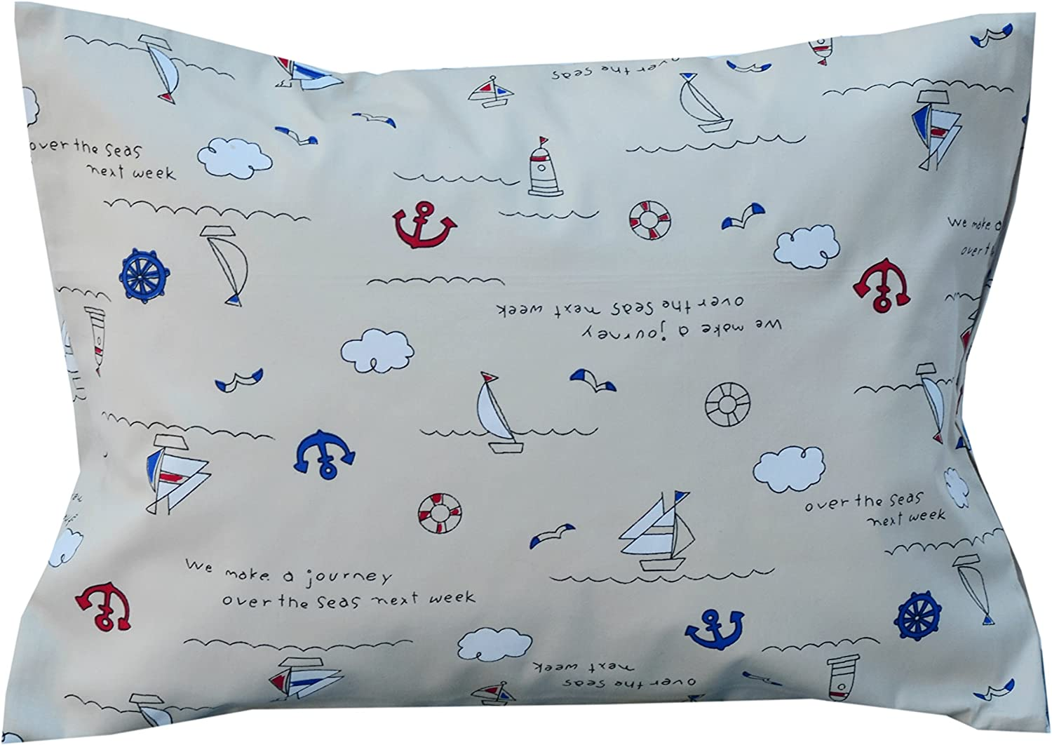 2cloud9 Toddler Pillow with 100% Cotton Cover. Made of 100% Natural Latex Rubber Foam