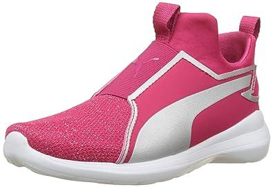 2406672b8abcc PUMA Juniors Rebel Mid Gleam Ps, Love Potion- Silver, Sneakers ...