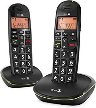 Doro PhoneEasy 100w duo - Teléfono fijo digital (inalámbrico), color negro (importado): Amazon.es: Electrónica