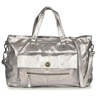 Sac en cuir Totally royal Femme Silver: : Vêtements