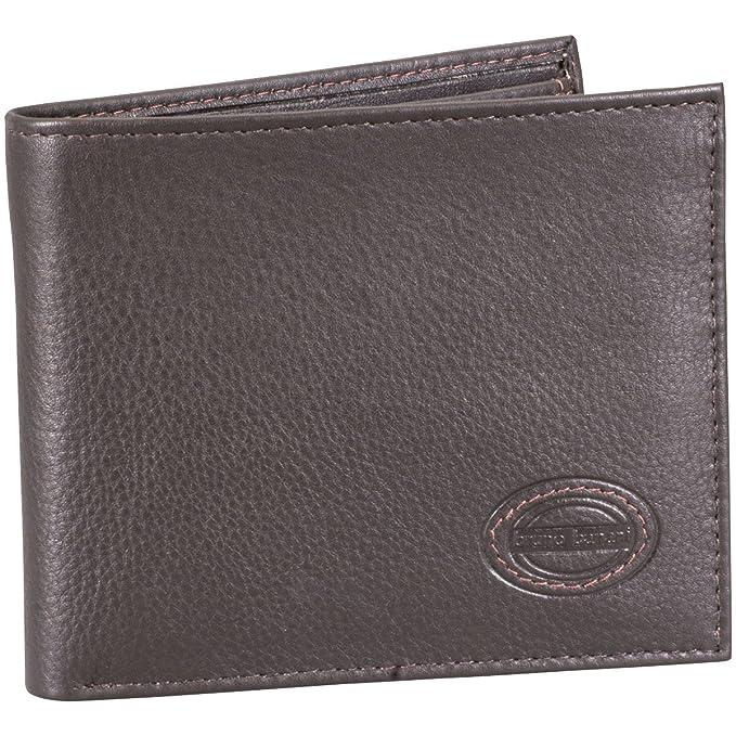 a51cb9c89 Bruno Banani - Bruno banani monedero / billetera de hombres, liso, marrón  oscuro,