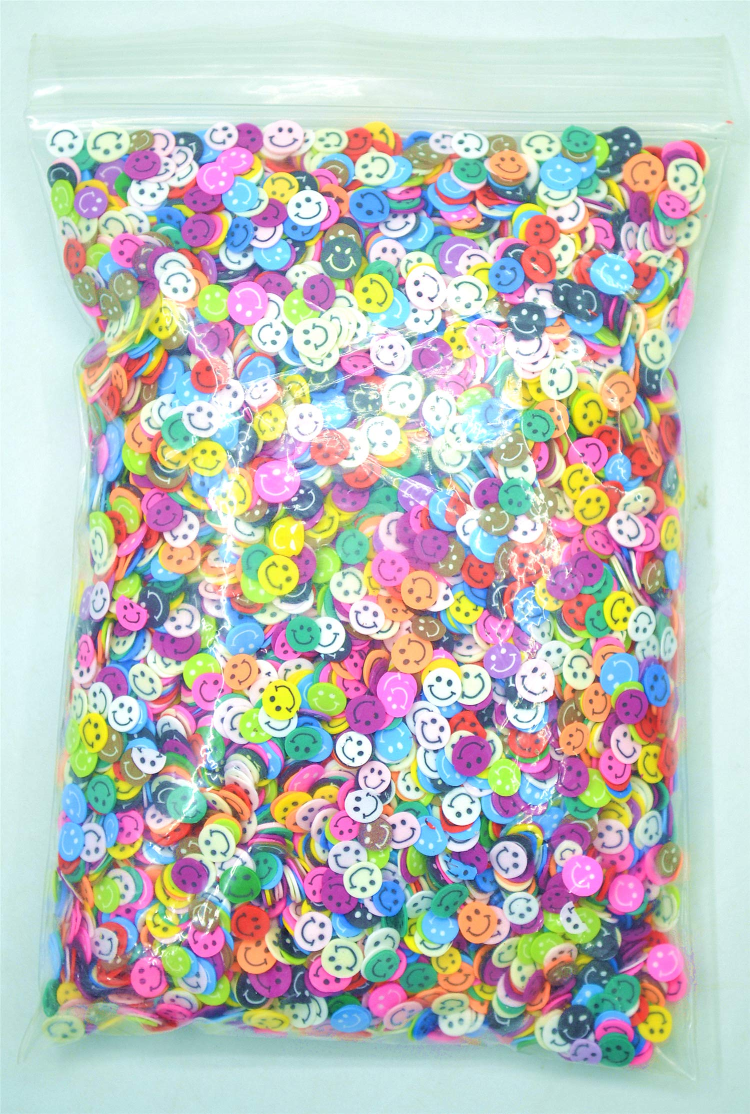 VolksRose 10000 Pcs Soft Clay 3D Nail Art Canes Stickers Mini Designs Multi-colored Smiley Face Assorted Pattern Slice Cellphone Face and More Decorations Tools #5 by VolksRose