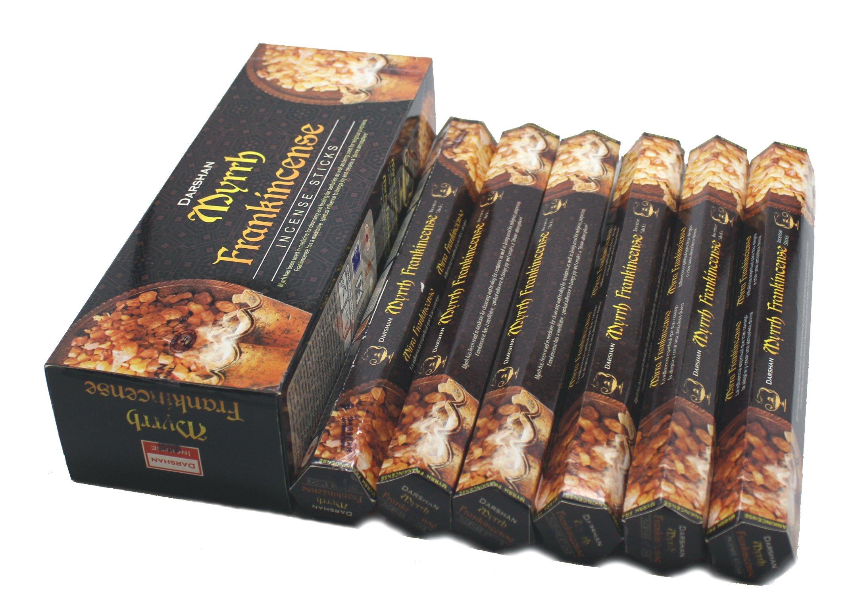Frankincense & Myrrh - 120 Sticks Box - Darshan Incense (Standard Version)