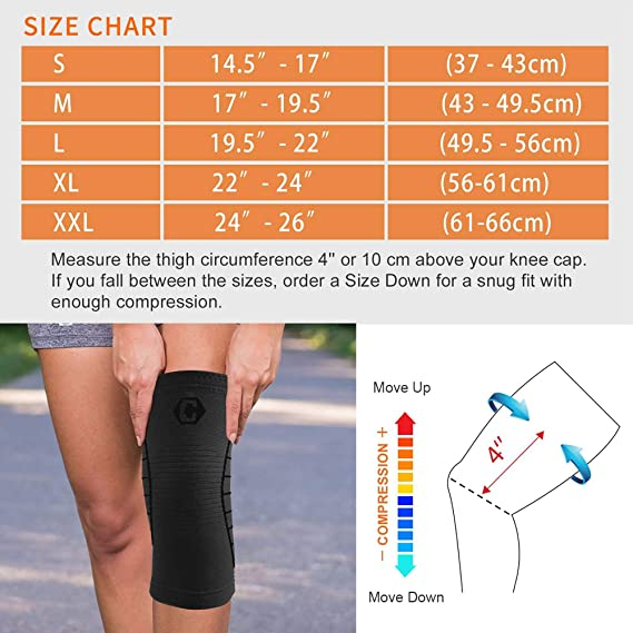 Hiking Home Gym CAMBIVO 2 Pack Knee Brace Sports Mid Night,Small Arthritis ACL Knee Compression Sleeve Support for Men and Women Meniscus Tear Running