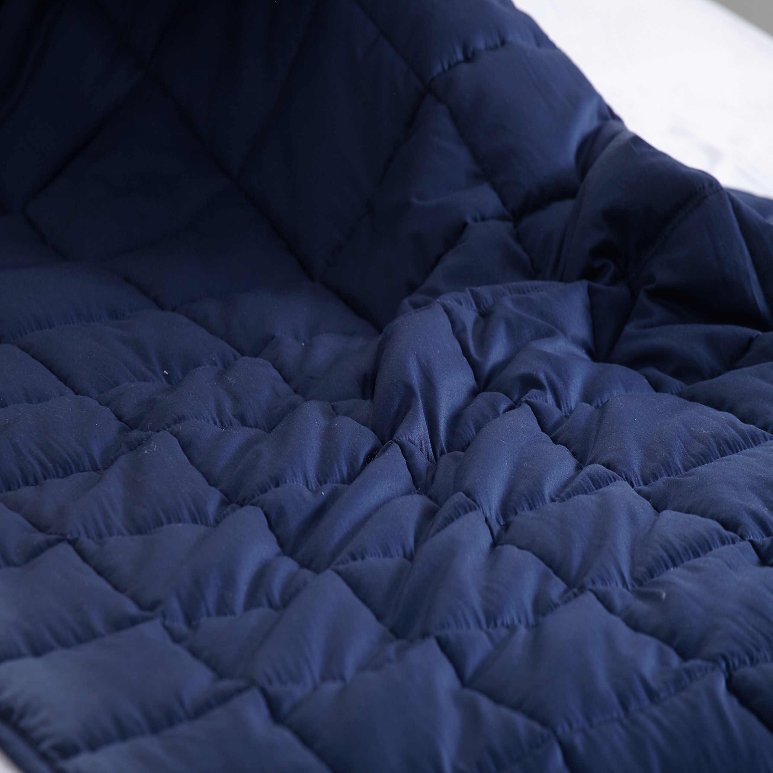 Weighted Blanket by Flasleep,Queen Size,Gravity Sensory Heavy Blanket for Children Adults. Great for Anxiety, ADHD, Autism, OCD, and Sensory Processing Disorder,60''x80'' 20 lb Navy