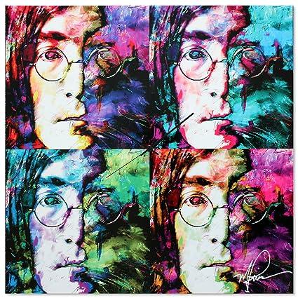 Amazon.com: Pop Art Clock \'John Lennon Clock\' - Pop Culture Decor ...