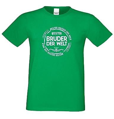 bequemes T-Shirt Herren Männer Motiv Bester Bruder der Welt Geschenk-Idee,  Vatertag