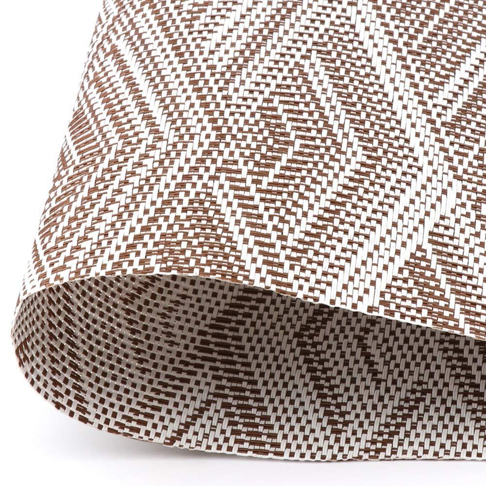 30 CM SueH Design Juego de Manteles Individuales de 8 Unidades Gris en PVC 45