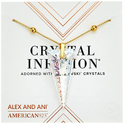 382d02a8d Alex and Ani Crystal Swarovski Infusion, Golden Ray Spike Pendant 14K Gold  Plated Necklace