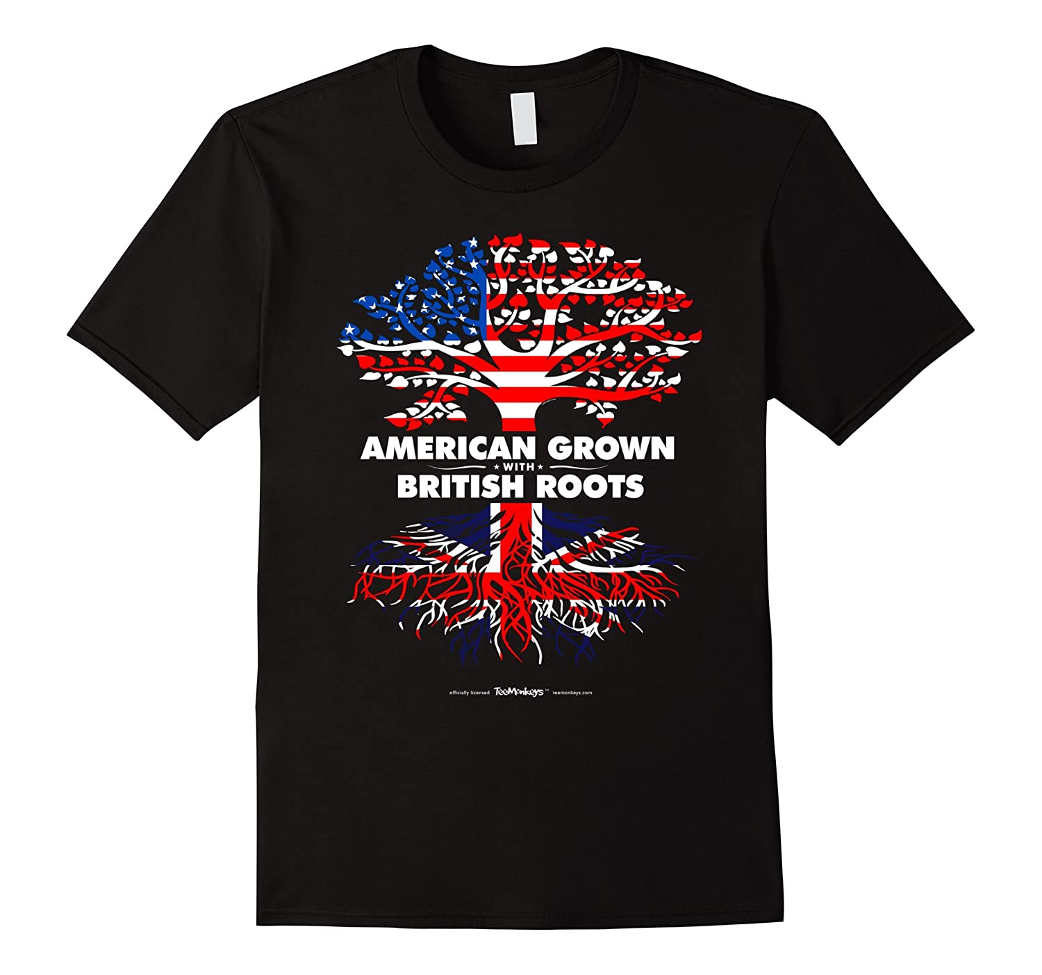 American Grown with British Britain Roots T-Shirt