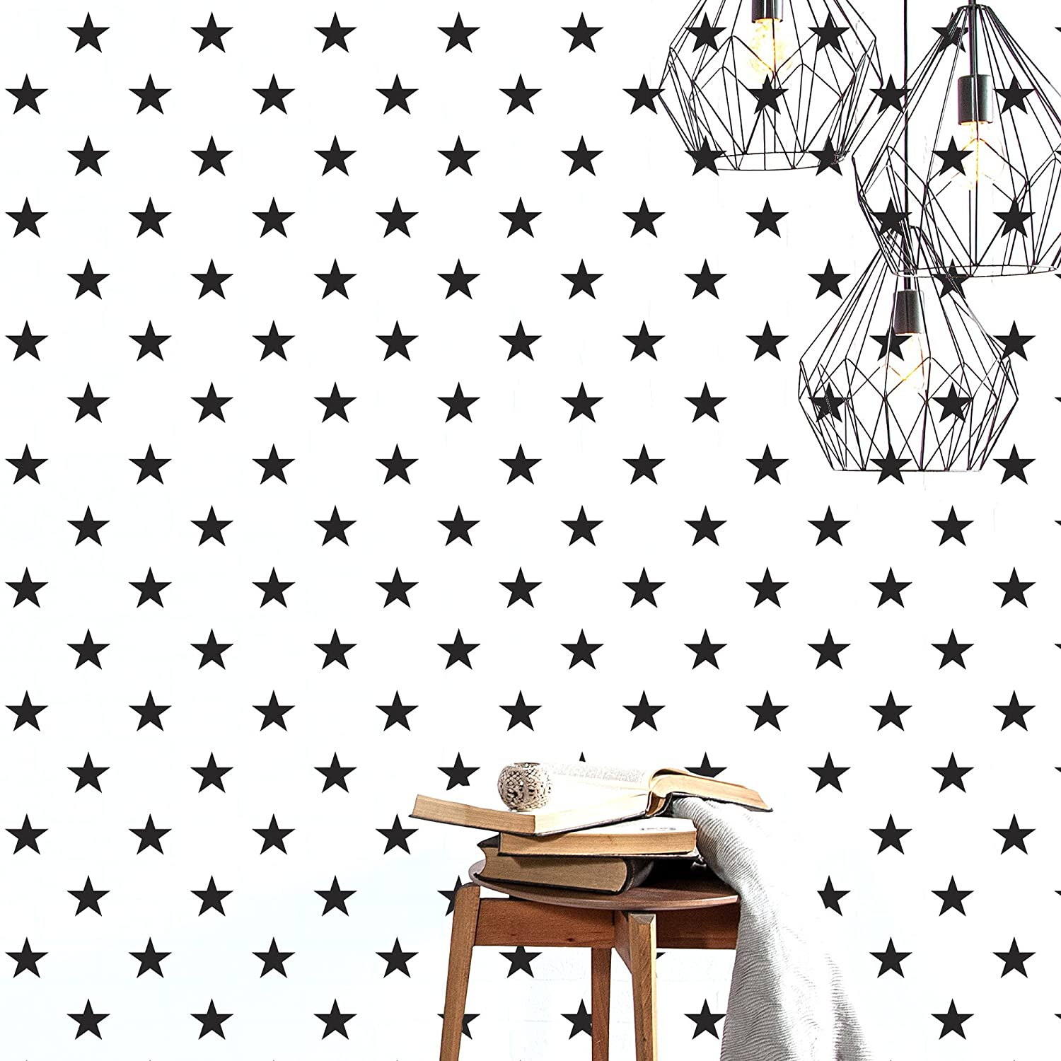 AdzifLucky Star Wall Decals Multicolored