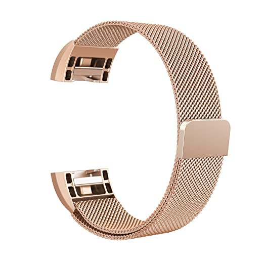 26 opinioni per Fitbit Charge 2 Cinturino, Swees chiusura magnetica Milanese Loop in acciaio